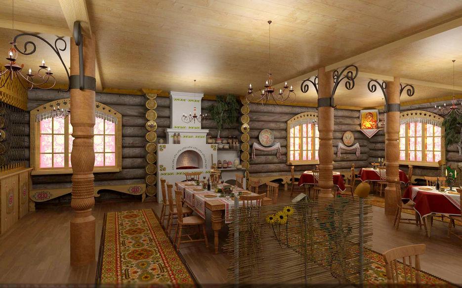 дизайн кафе в русско народном стиле фото попрыгать парашютами съезжаются