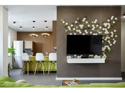 Фото реализации дизайн-проекта интерьеров квартиры