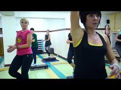 Танцевальный степ, ролик для фитнес центра