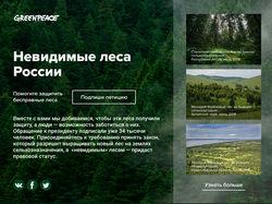 Новостной экран блога Greenpeace