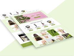 Редизайн главной страницы сайта Organic Shop
