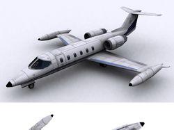 Лоу-поли модель LearJet 35