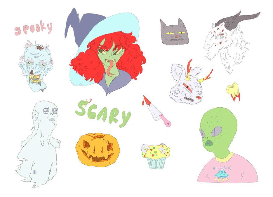 Наклейки к хэллоуину