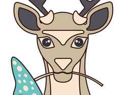 Иллюстрация олень.