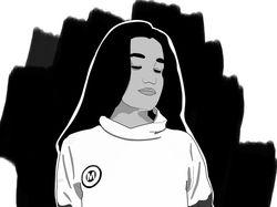 АРТ девушки в черно белом стиле