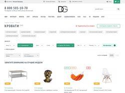 Адаптивная верстка каталога для сайта DG-home
