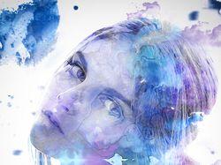Watercolor Portrait-Beauty Retouch