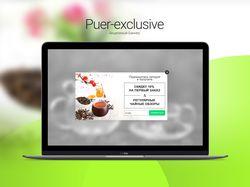 Акционный Баннер для Puer-exclusive