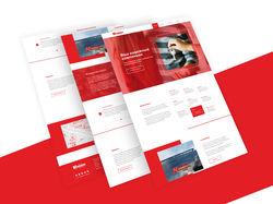 """Дизайн главной страницы сайта агенства """"Компаньон"""""""