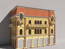 Моделирование и визуализация торгового фасада