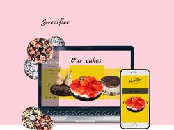 Veronika Fereletych UIX|Web Design|Cakes|Sweet