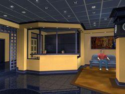 Дизайн и визуализация холла гостиницы.