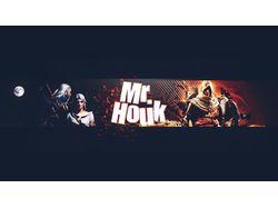 Баннер канала на Youtube Mr.Houk