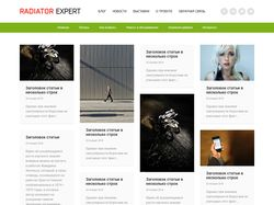 Адаптивная верстка небольшого сайта с анимацией