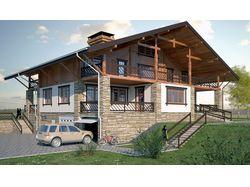 индивидуальный жилой дом в стиле шале