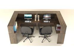 Визуализация офисной мебели. Ресепшн