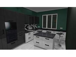 Пример кухни созданой в программе PRO100