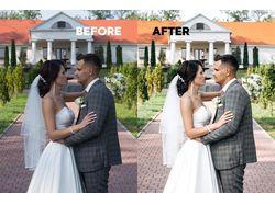 Цветокоррекция свадебных фотографий