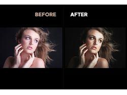 Цветокоррекция портретных фотографий