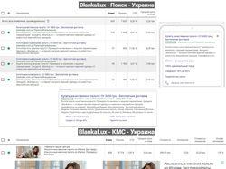 Blankalux.com.ua // Google Adwords
