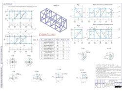 Модель и КД каркаса металлоконструкций