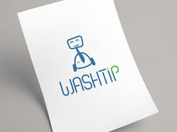 Логотип для химчистки washtip