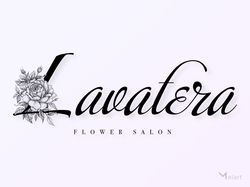 Logo for the flower salon. Full version.  Lavatera