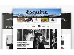 Дизайн сайта Esquire Kazakhstan