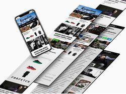 Дизайн мобильной версии сайта Esquire Kazakhstan