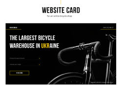 Web site card for an online bicycle shop