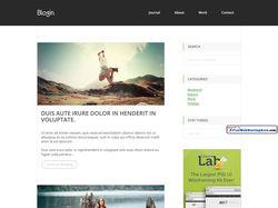 Вёрстка информационного блога