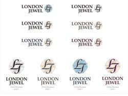 Варианты исполнения логотипа магазина London Jewel
