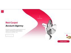 Сайт для агенства Red Carpet + адаптивная верстка