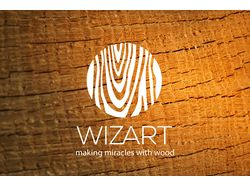 Логотип для WIZART магазина украшений из дерева