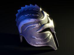 модель шлема (lowpoly - 833 полигона)