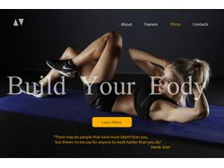 Landing Page for Sport Club.