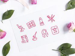 Иконки для сайта салона красоты