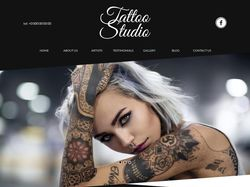 Landing page for tattoo studio.