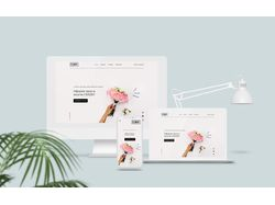 Landing page design for flower boutique