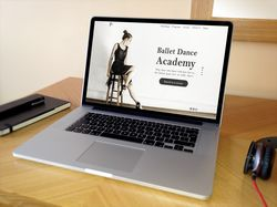 Landing page design for dance studio