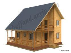 Визуализация  каркасного дома 2 эт. S-150 кв.м