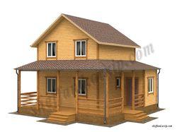 Визуализация каркасного дома 2 эт. S-100 кв.м