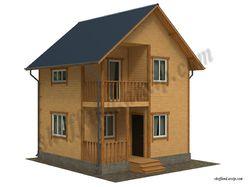 Визуализация дома из бруса 2 эт. S-120 кв.м