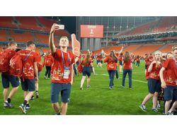 Вечеринка волонтеров Чемпионата мира по футболу.