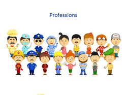 Vector illustration. Professions people.