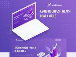 Дизайн Landing page для avoid bounce