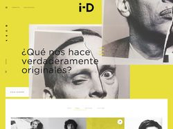 Web-design, UX/UI for i-D