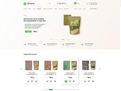 Дизайн интернет магазина про продаже эко-продуктов
