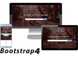 Адаптивная верстка с использованием Bootstrap 4