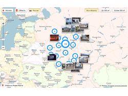 Галерея работ на Яндекс Карты API